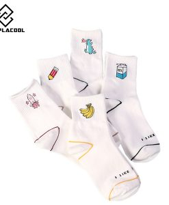 Kawaii White Cartoon Socks