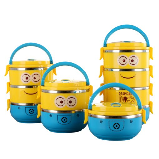 Cute Minion Stainless Steel Thermal Bento Boxes