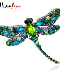 6 Colors Crystal Rhinestone Dragonfly Brooches