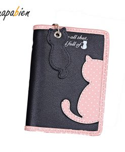 Cute Kawaii Cat Leather Wallet