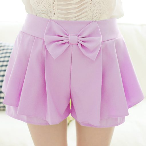 7 Colors Kawaii Bow Shorts