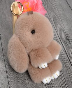 Cute Mini Rabbit Fur Key Chain