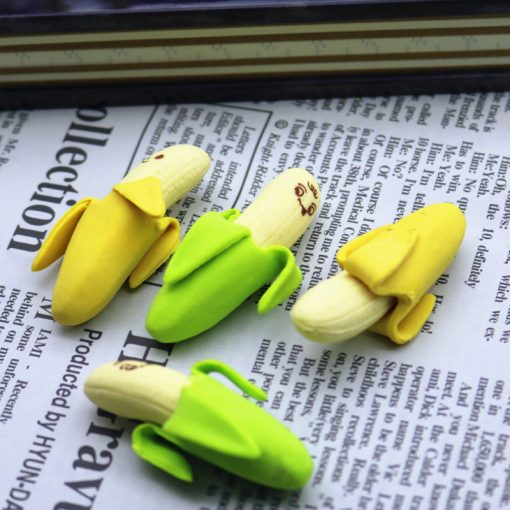 4 Pcs Mini Banana Eraser