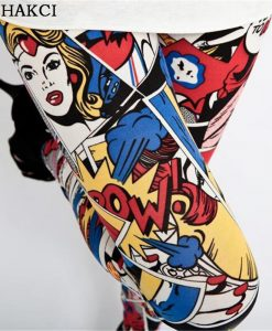 Cartoon Comic Stretch Leggings