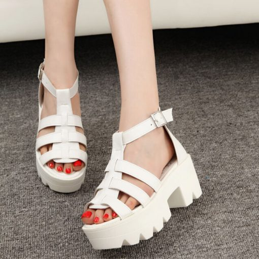 Korean Summer Platform Shoes Sandals