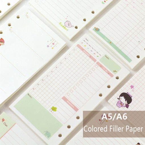 A5 / A6 Cute Creative Colored Planner