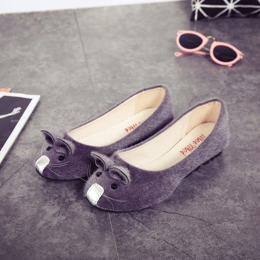 Cute Mouse Spring Flats for Women