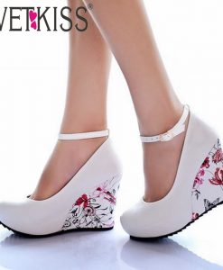 Flower Print Platform Shoes