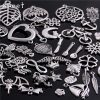 100 pcs / lot Antique Silver Bracelet Charms