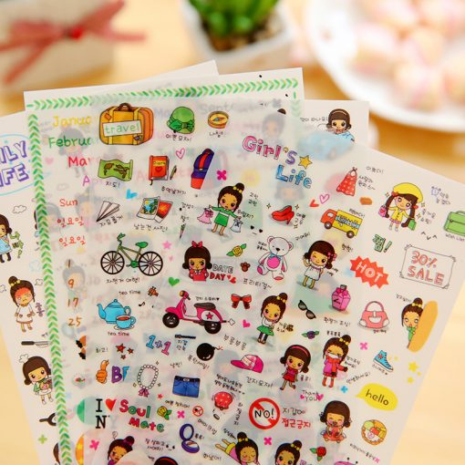 4 Pcs / Pack Kawaii Stickers