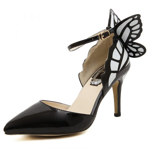 Butterfly Buckle High Heel Shoes
