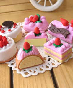 4 Pcs / Lot Cake Rubber Eraser
