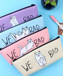 Kawaii Canvas Pencil Cases
