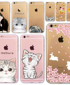 Soft Silicon Transparent Phone Case for iPhone