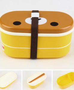 1 Set Plastic Bento Lunch Box