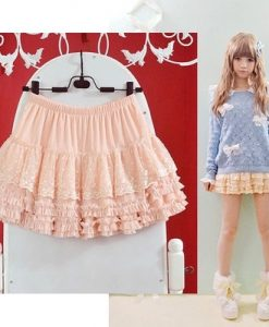 Lace Japanese Cute Kawaii Skirt