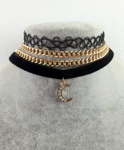3 Pcs / lot Vintage Velvet Choker Necklaces For Women