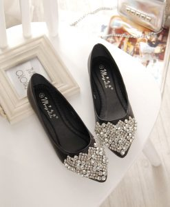 3 Colors Casual Rhinestone Flats