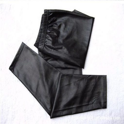 Black Faux Shiny Leather Leggings