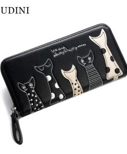 Cat Long Creative Leather Purse