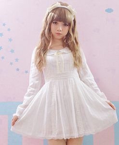 Kawaii Lace Lolita White Dress