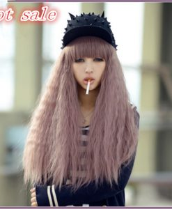 70 cm Cosplay Purple Wig