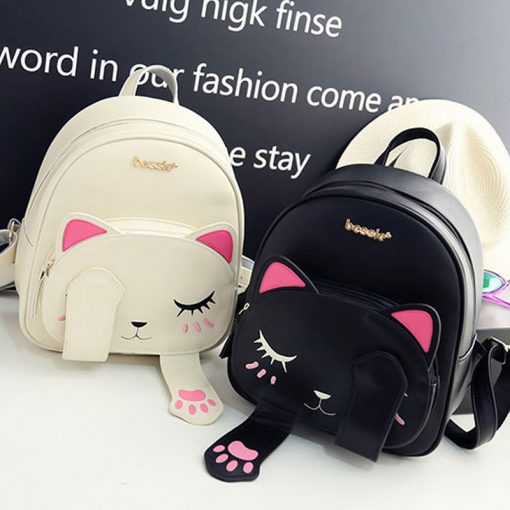 Cat Leather Backpacks for Women