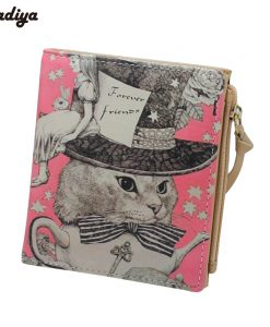 Fashion Zipper Purse with Animal Prints