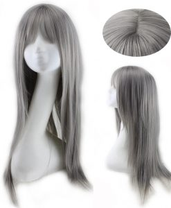 Harajuku Long Straight Grey Wigs