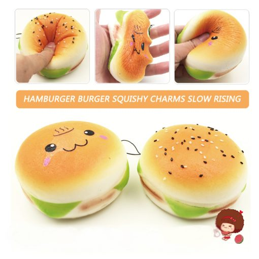 10 CM Burger Squishy Charms