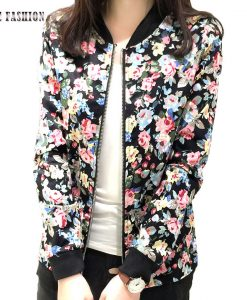 Fashion Baseball Floral Jacket for Women