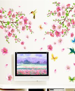 Large Elegant Flower Wall Stickers