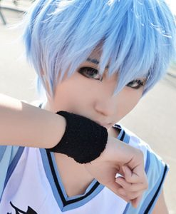 Harajuku Short Synthetic Hair Light Blue Wigs
