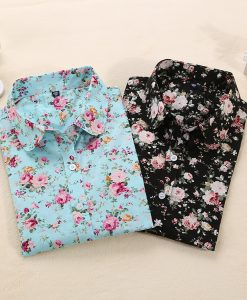 Floral Long Sleeve Blouses