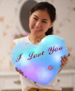 Kawaii Heart Luminous Plush Pillow