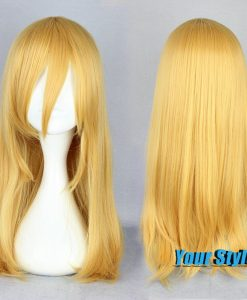 55 cm Straight Golden Yellow Harajuku Wigs