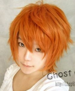 Harajuku Short Orange Wig