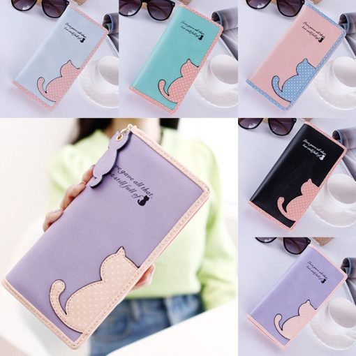 Cute Cat Wallet for Women