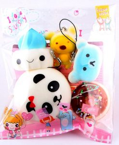 5 piece squishy set
