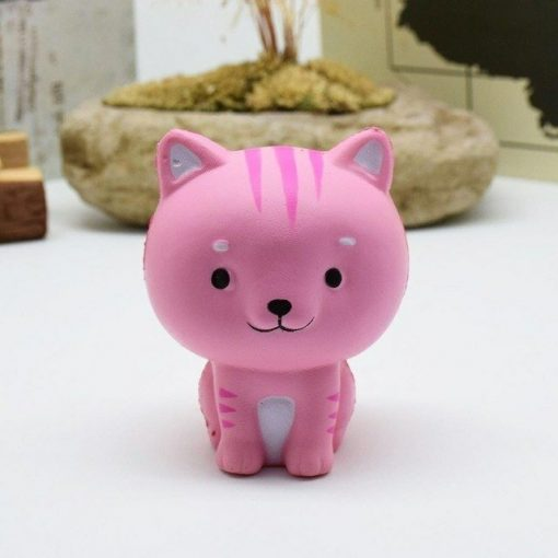 slow rising cat squishy pink