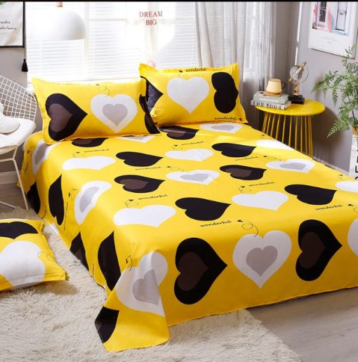 black heart design bedding set