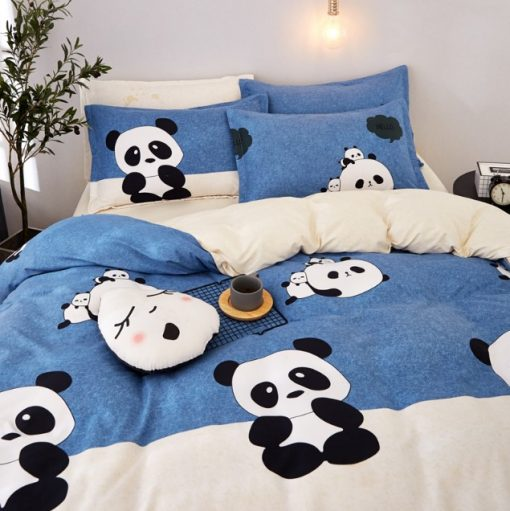 cartoon panda bedding set