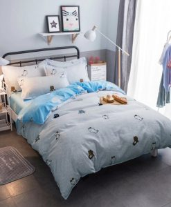 light blue kawaii bedding set 6