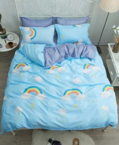 rainbow blue bedding set
